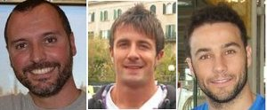Equip tècnic: Marcelo, Jordi (entrenadors) i Santi (fisio)