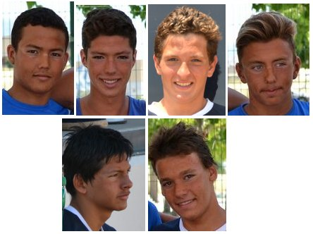Andrés, Toni, Hugo, Joan Marc, Sergio i Tony